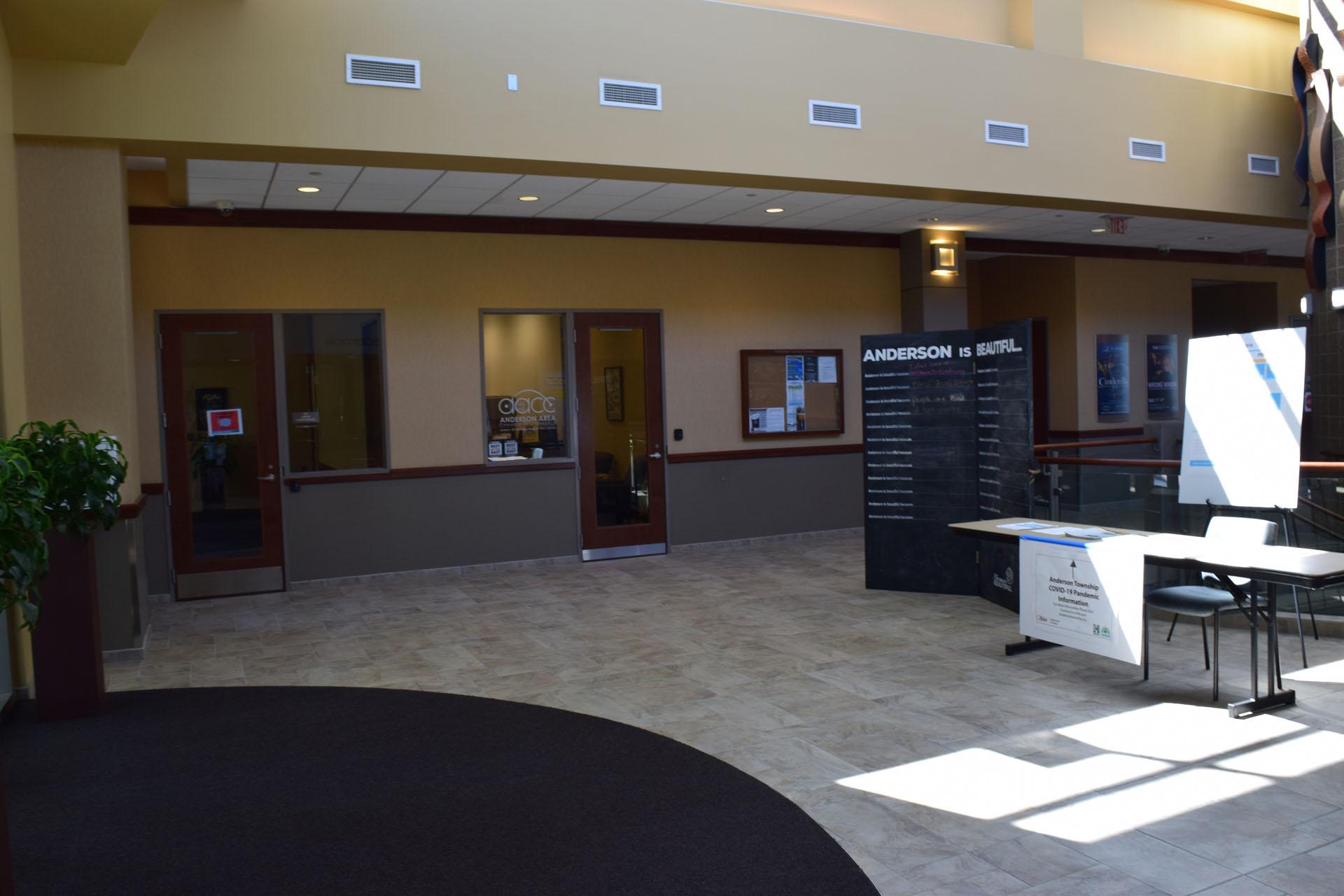Upper Atrium Front Area at Anderson Center