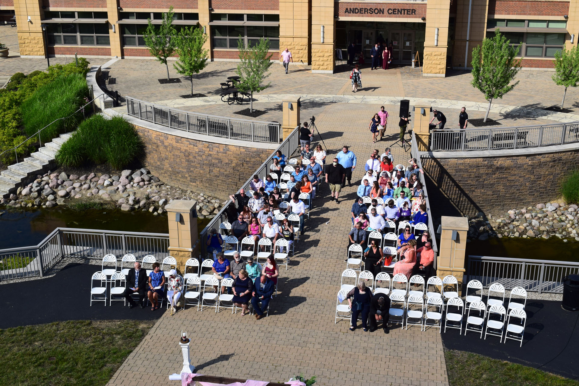 Wedding Ceremony at Anderson Center South Plaza
